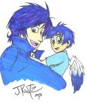 An Angel and his Son by Rinkusu001