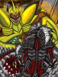 Gareku vs Rogzor 'Colored' by RenDragonClaw