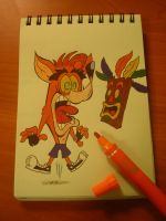 Weird Crash Bandicoot by DanDav87