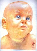 Baby watercolor by Mundokk