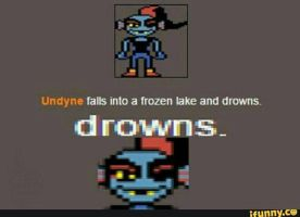 Undyne failed to be a fish by Garu098