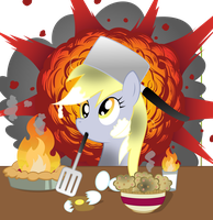 Iron Chef Derpy by rainbownspeedash