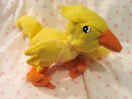 Chocobo plushie by wandering-dreamer