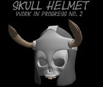 Skull Helmet W.I.P. No. 2 by The-Horrible-Mu
