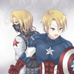 APH- Captain America and Winter (Canadian) Soldier by Mi-chan4649