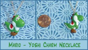 Mario - Yoshi Charm Necklace by YellerCrakka
