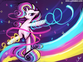 (30minutechallenge)rainbow powered rarity by luminaura