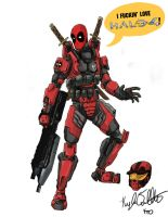 Deadpool loves Halo 4 by deadpooleyo