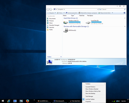Windows 10 Theme for Vista by Javier9218