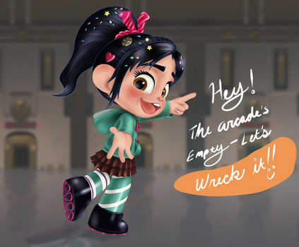Vanellope - Game Jumping by artistsncoffeeshops