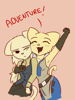 Katia and Rajirra Adventure by poptart36