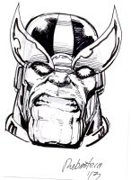 Thanos Angry by Joe Rubinstein by IamSpeck