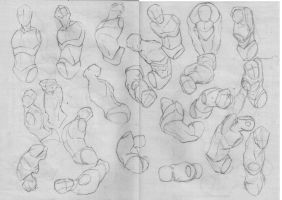 Drawing basics again 2  Men bust :P by xong