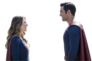 Supergirl and Superman PNG by Buffy2ville