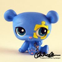 Autism Awareness Bear (April 2015) custom LPS by thatg33kgirl