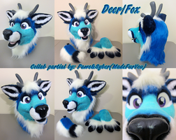 DeerFox collab fursuit by Madefuryou and I by PlushiePaws