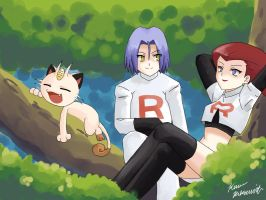 Chillin Team Rocket Style by maimai97