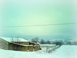 Little house in the snow by whatareyoustaringat