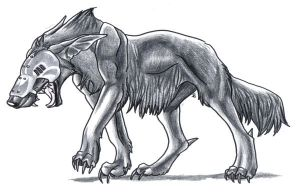 Evil black winged wolf - photo#28