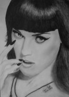 Katy Perry Charcoal by Sakrates