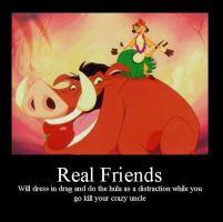 Timon and Pumbaa by The-Waffle-Child
