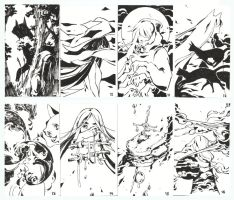 Sketch Cards - Batch 2 (originals up for sale!) by HJeojeo