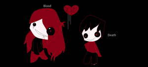 Blood x Death Painful Love by ExileEmily