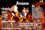 Arcaxon OFFICIAL Reff Sheet by cmm97productions