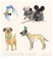 Disney's Fab Five by SamiShahin-Art