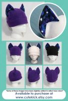 Space Cat Hat Glow in the Dark Stars by cutekick