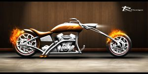 Chopper Flame by SlincksInTheWind
