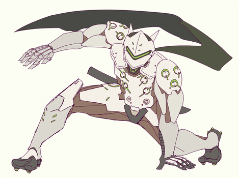 Overwatch: Genji by Fruitloop-chan
