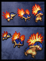 Cyndaquil Evolution Set by Kin-Karo