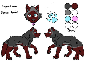 Ladon ref sheet by Blackrose1716