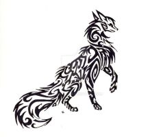 Wolf Tribal by Skrayle