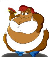 COM Obese Sally Acorn FRONT by Robot001