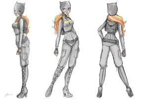 Bat Girl Novice Suit Concept by NoFlutter