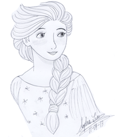 Elsa (For Disney's Frozen Style Collab) by GracefulTatiana1897