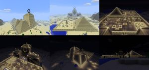 Pharaon Palace in MineCraft by Yahmos