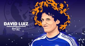 David Luiz  by kalongart
