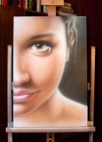 Airbrush Petra portrait by kshandor