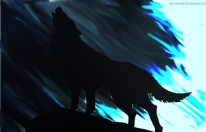 Howling Wolf [wallpaper] by DorciMetal