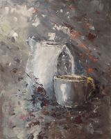 Cup and teapot by flitart