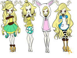 Jacklyn Ann. Lope outfits by su-i-cide-kid