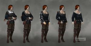 Witcher 3 Triss early concepts 3 by Scratcherpen