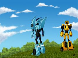 Blurr, Bee, meet Mother Earth by daughterofMyou