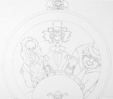 HM Hitchhiking Ghosts Line Art by WDWParksGal