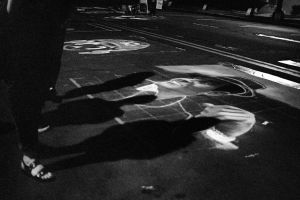 Chalk Art Stroll in the Evening by DizzyCowPhotography