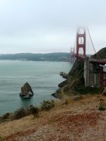 A Rock and a Golden Bridge by sbasund