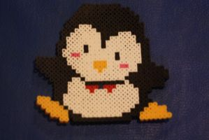 Perler Beads- Penguin by Puppylover5